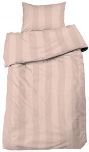 Redlunds Bedsheet set Big Stripe Satin, 2-piece - Peach