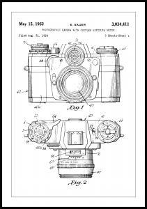 Lagervaror egen produktion Patent drawing - Camera I Poster