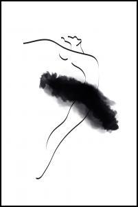Bildverkstad Ballerina Thin Lines Poster