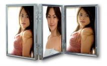 Tripla Silver 3 Pictures Folding picture frame 10x15 cm