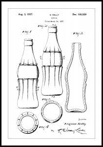 Lagervaror egen produktion Patent drawing - Coca-Cola bottle