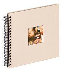 Walther Fun Spiral bound album Sand - 26x25 cm (40 Black pages / 20 sheets)