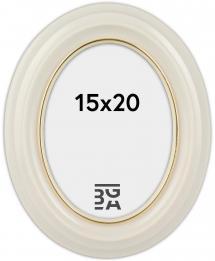 Eiri Mozart Oval White 15x20 cm