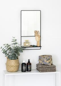 KAILA KAILA Mirror with shelf - Black 31x60 cm