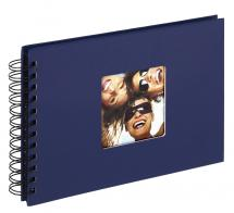 Walther Fun Spiral bound album Blue - 23x17 cm (40 Black pages / 20 sheets)