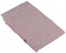 Fondaco Tablecloth Theo - White/Red 140x250 cm