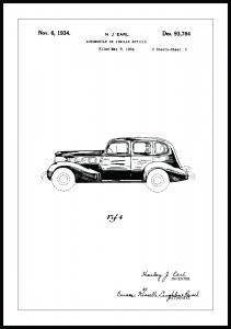 Bildverkstad Patent drawing - LaSalle III Poster