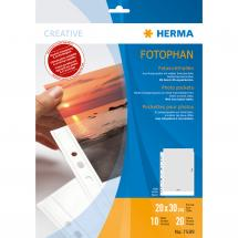 Difox Herma photo sleeves 20x30 cm vertical - 10-pack white