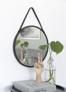 House Nordic Spegel Trapani Svart 38 cm Ø