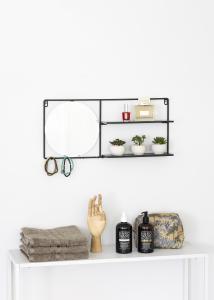 KAILA KAILA Round Mirror with shelf - Black 55x25 cm