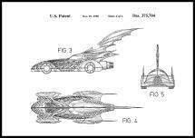 Bildverkstad Patent drawing - Batman - Batmobile 1996 II Poster