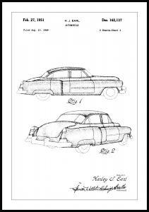 Bildverkstad Patent drawing - Cadillac I Poster