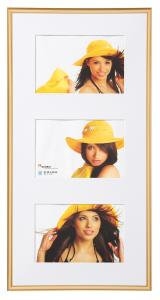 Walther New Lifestyle Collage frame Gold - 3 Pictures (10x15 cm)