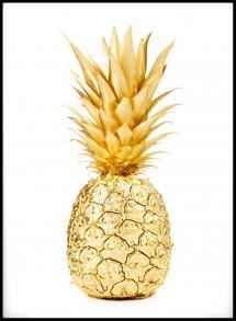 Lagervaror egen produktion Gold Pineapple Poster