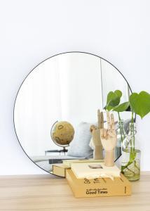 House Nordic Mirror Jersey Black 60 cm Ø