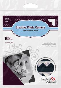 3L Creative Photo Corners Black - 108 pack