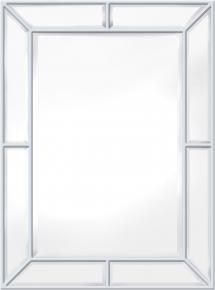 Innova Editions Mirror Pimlico Glass Panelled Wood Misty White 79x112 cm