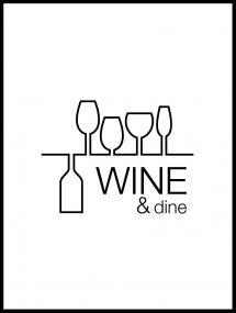 Lagervaror egen produktion Wine & dine - White