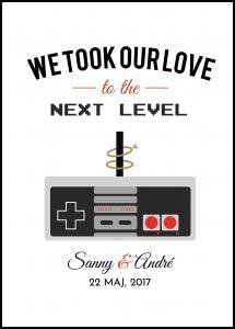 Personlig poster Gamers Love