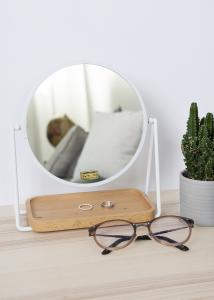 Hübsch Table mirror Tray White