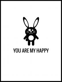Malimi Posters Rabbit Happy