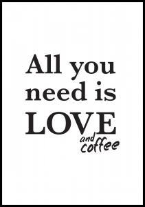 Lagervaror egen produktion Love and coffee
