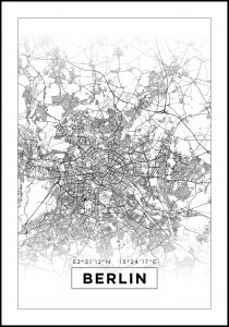 Lagervaror egen produktion Map - Berlin - White Poster