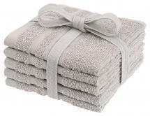 Borganäs of Sweden Flannel Basic Terrycloth - Sand 25x25 cm 5-pack