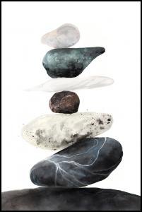Bildverkstad Stones from the beach Poster