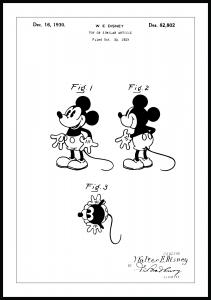 Lagervaror egen produktion Patent drawing - Disney - Mickey Mouse Poster