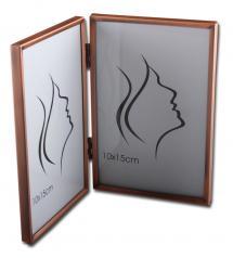 Estancia Slät Metall Folding picture frame Copper 10x15 cm - 2 Pictures