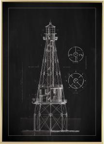 Bildverkstad Slate - Lighthouse - Ship Shoal Lighthouse Poster