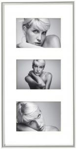 Walther Galeria Collage frame Silver - 3 Pictures (10x15 cm)