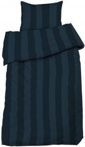 Redlunds Bedsheet set Big Stripe Satin, 2-piece - Marine blue