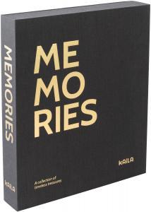 KAILA KAILA MEMORIES Black - Coffee Table Photo Album (60 Black Pages)