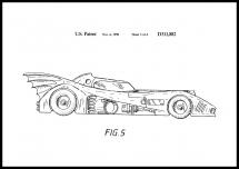 Bildverkstad Patent drawing - Batman - Batmobile 1990 III Poster