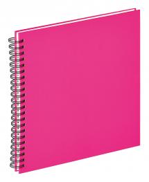 Walther Fun Spiral bound album Pink - 30x30 cm (50 White pages / 25 sheets)