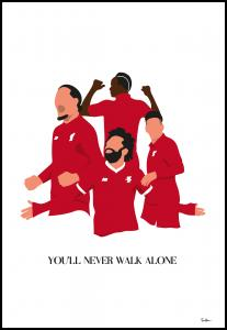 Tim Hansson You Will Never Walk Alone-Liverpool Players Poster