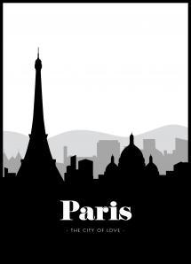 Bildverkstad Paris Skyline Poster