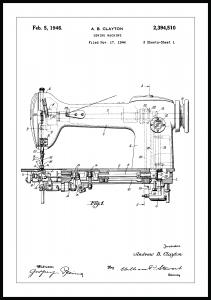 Lagervaror egen produktion Patent drawing - Sewing machine I