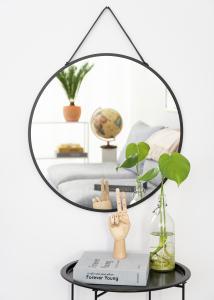 House Nordic Mirror Trapani Black 60 cm Ø