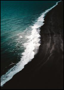 Bildverkstad Black Beach Poster
