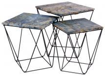 House Nordic Sideboard Ranchi Blue - 3 set