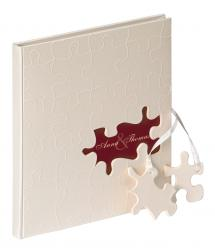 Walther Puzzle Guestbook - 23x25 cm (144 White pages / 72 sheets)