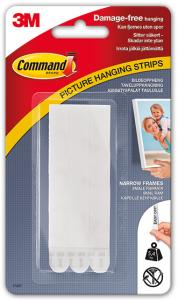 Penselgrossisten Hallström 3M Picture hanging strips white with velcro thin (13 mm) - 4 pairs