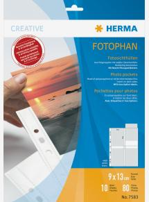 Herma photo sleeves 9x13 cm vertical - 10-pack white