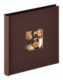 Walther Fun Album Dark brown - 18x18 cm (30 Black pages / 15 sheets)