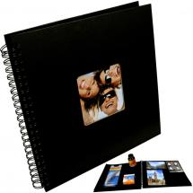 BGA Nordic Fun Spiral bound album Black - 30x30 cm (50 Black pages / 25 sheets)