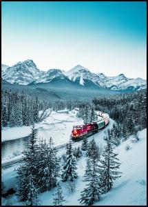 Bildverkstad Winter Train Poster