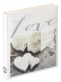Walther Love is all you need - Photo Album - 28x30.5 cm (50 White pages / 25 sheets)